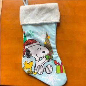 "NWOT Peanuts 17"" Christmas stocking"